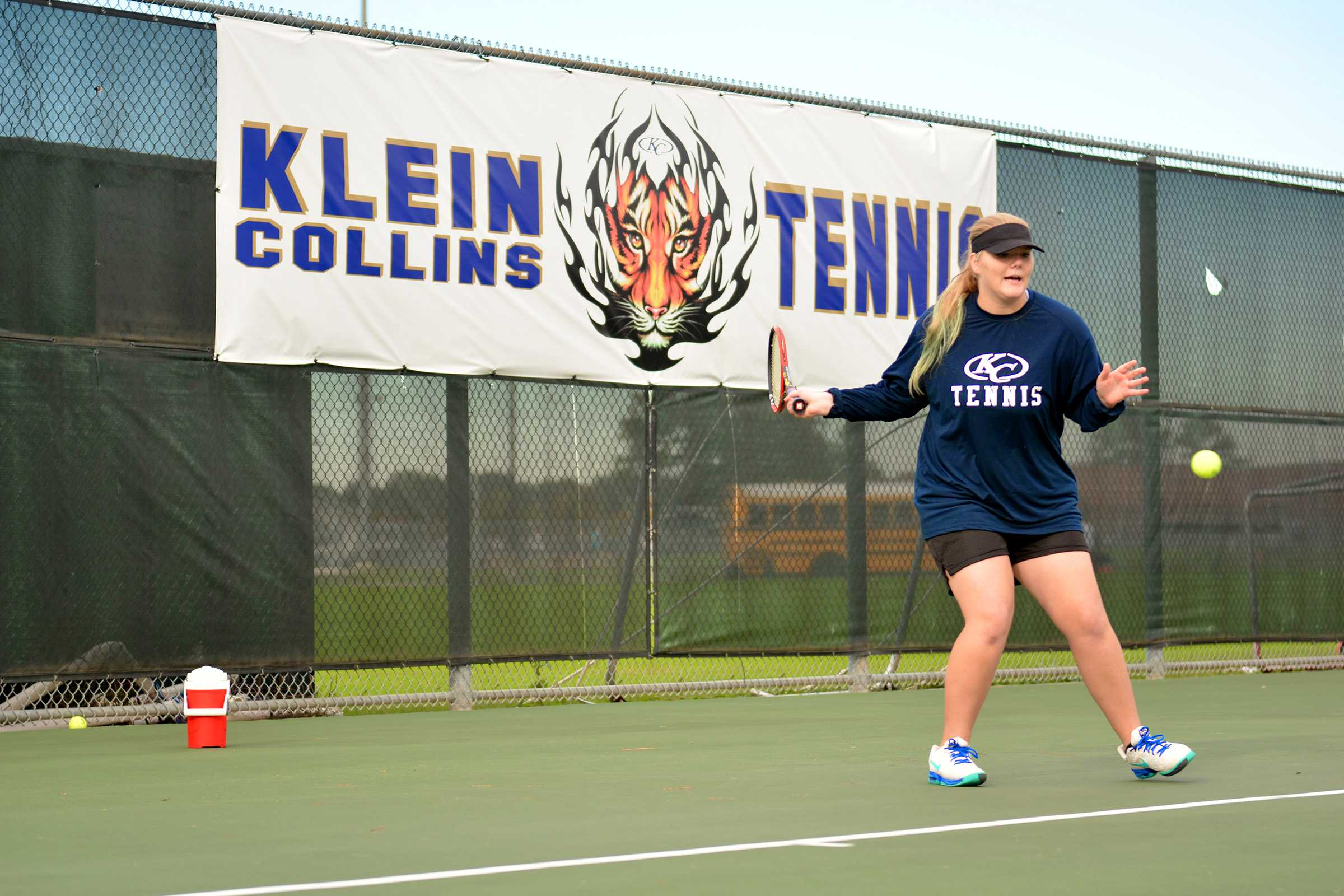 Sophomore Katrina Plank  practices 15 hours a week, on average.
