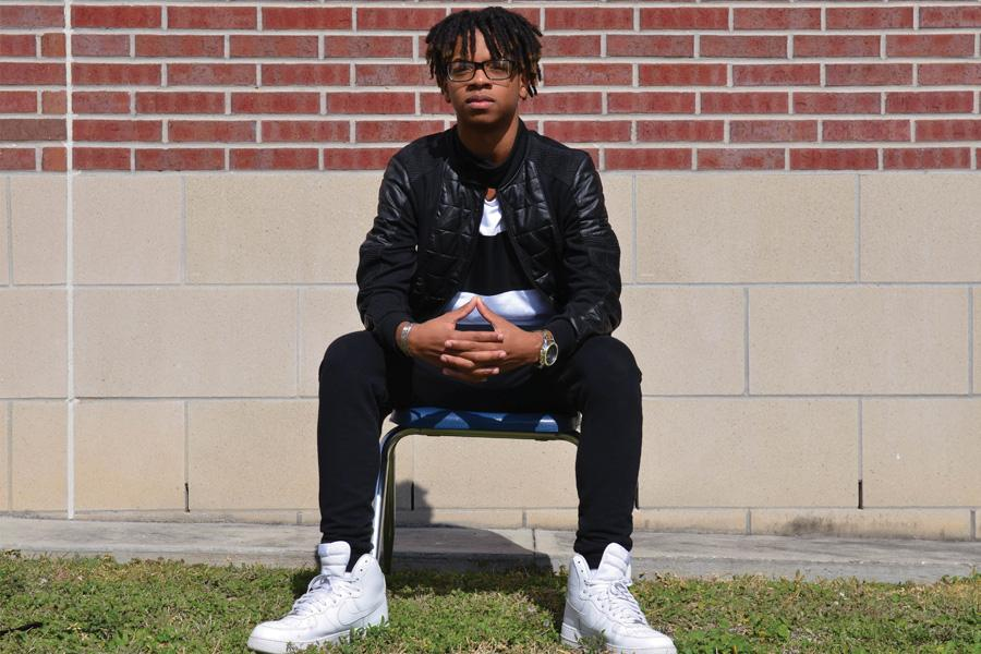 """Freshman Kamal-Sayeed Shabazz began writing songs in 6th grade. """"This drove me to want to do more,"""" Shabazz said. """"My friends and I decided to make a group called, """"Kaotik Industries."""""""