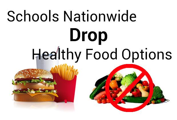 Healthy lunch menus dropped from schools nationwide