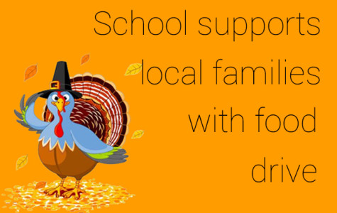 School supports local families with food drive
