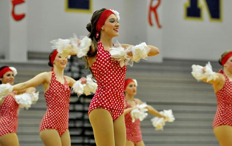 Juliette Ochoa dances with her fellow drill team in their showcase.