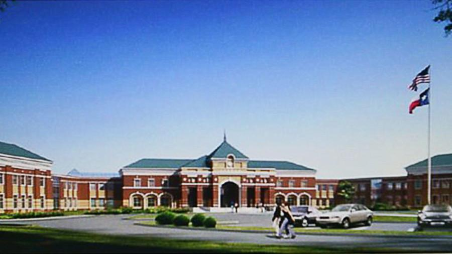 Proposed front exterior of High School 5.