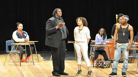 Students participated in the second annual Black History month play, which took place at Klein Oak.