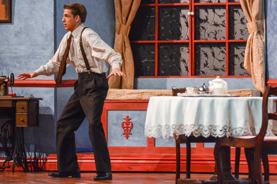 Hayden Cox plays Mortimer in the fall play,