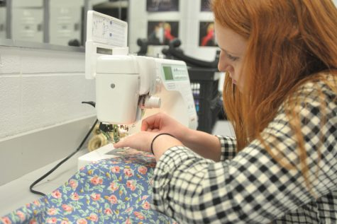 Sewing Her Way Through Senior Year