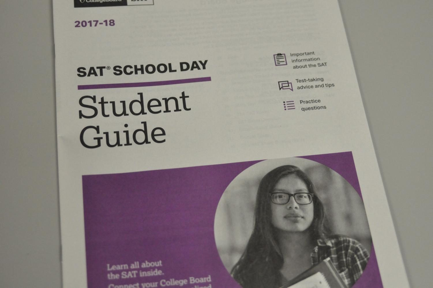 Next Wed., over 800 juniors will take the SAT during school.