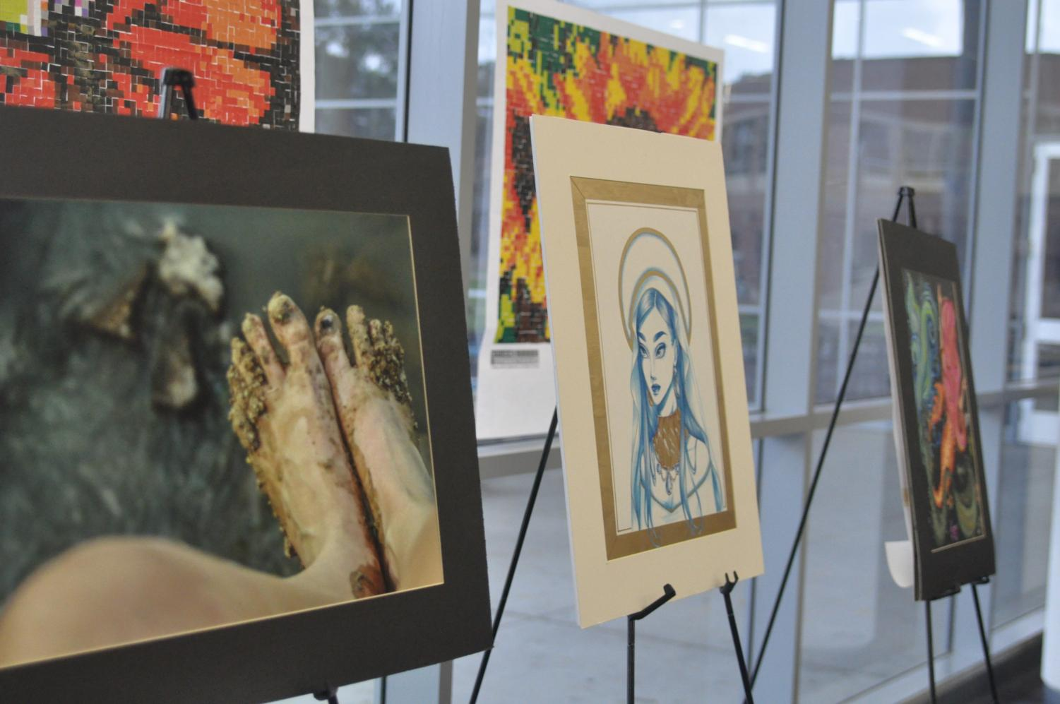VASE was held Feb. 17, and artworks were later put on display in the Klein Collins library.