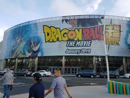 An unknown theater hosts an event for the opening of Dragon Ball Super: Broly.
