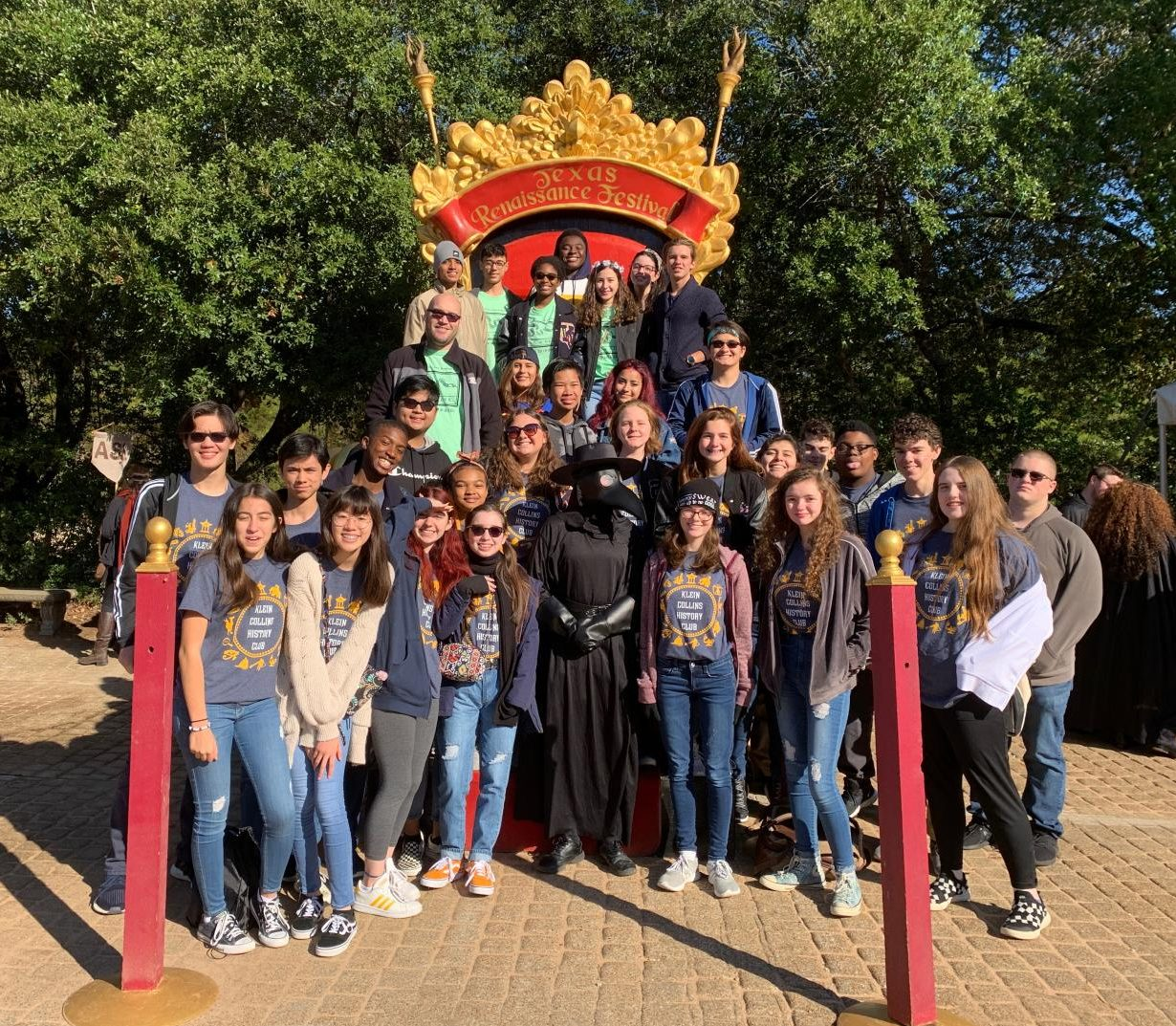 History Club had their annual visit to the Texas Renaissance Festival this past Saturday.