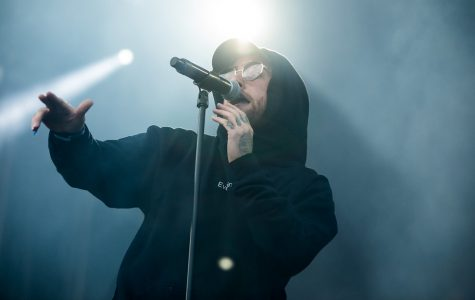 Mac Miller performing live at Slottsfjell Festival in Tønsberg, Norway on July 17th, 2017.