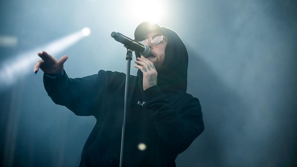 Mac Miller performing live at Slottsfjell Festival in Tønsberg, Norway on July 17th, 2017.