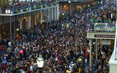 Crowds gather at The Strand during The Mardi Gras Parade on Wednesday Feb 5th.