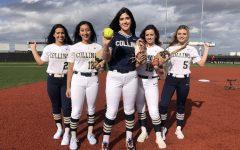 Nadia Almanza, Daniela Gutierrez, Abigail Ramirez, Arwin Callaway, and Kylee Jacks are ready to take the field, even during Covid.